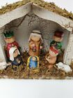 2005 Christmasville by Ronnie Walter 8pc Porcelain Kid Nativity Scene Set