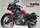 KAWASAKI Z750 TURBO factory cutaway poster 'superbike no one else could build'