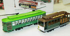HO-Scale Classic Streetcars Powell & Mason Cable Car & Desire St. Trolleys Used