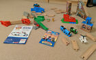 Thomas And Friends Wooden Railway Race Day Relay Set Train Playset w Extras