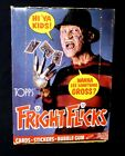 Fright Flicks 36 pack Box New 1988 Cards Stickers Gum Kreuger Topps Amricons