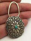 Native Americans handmade handcrafted turquoise sterling silver Keychain