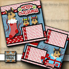 MERRY CHRISTMAS Yorkie dog premade scrapbook pages paper printed DIGISCRAP A0302