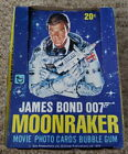 JAMES BOND MOONRAKER TOPPS MOVIE PHOTO CARD PACKS AND DISPLAYER BOX