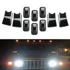 Smoked Lens Amber Red Full LED Cab Roof Clearance Lights For 03 09 Hummer H2 SUT