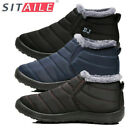 SITAILE Men's Winter Snow Boots Warm Fur Lined Outdoor Work Ski Hiking Shoes US