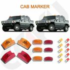 10x Amber red Roof Cab Marker roof Light for Hummer H2 SUV 2003 2009 w bulbs