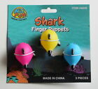 3 Shark Finger Puppets Baby Shower Birthday Party Goody Bag Favor Toy