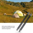 Fiberglass Camping Tent Pole Support Awning Frames Tarp Rod Adjustable Hot