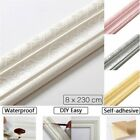 3D Self adhesive Decor Wall Molding Skirting Lines Mural Border Home Sticker US