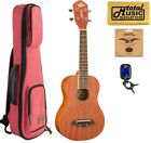 Oscar Schmidt OU2 Concert All Mahogany Ukulele Red Sonoma Case Bundle