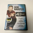 BOB HARPER 4 DVD WORKOUT SET total trainer plus ultimate cardio body pure burn +