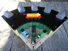 Thomas Train Wooden Railway Roundhouse with 5 Way Switch Track and Trains