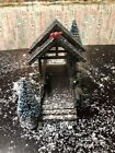 Lemax Village Accessories - Wooden Bridge With Trees, Christmas Village