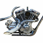 Twisted Choppers Ground Pounder 2 Into 1 Custom Exhaust Drag Pipe Pipes Harley