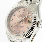 ROLEX LADY-DATEJUST STEEL AND WHITE GOLD ROLESOR 28 MM PINK DIAL 279174PDJ