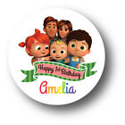 30 CoComelon Personalized Birthday Party Favors Treat Bag Stickers