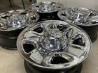 18 DODGE RAM 2500 CUMMINS OEM FACTORY STOCK CHROME CLAD WHEELS RIMS 8X165