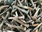 Lot of 50 Used Railroad Spikes, Vintage Train Track Plate Nails - Free Shipping!