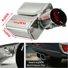 Universal 63mm 25 Stainless Steel Bent Car Tail Rear Pipe Tip Muffler Cover