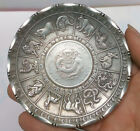 Old Chinese tibet silver Copper Zodiac Animal statue money Coin wealth Plate