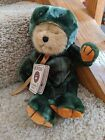 Boyds Bear Taddley Frog Costume Plush Beanie Masters Of Disguise Green Teddy