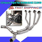 Stainless Steel Exhaust Vent Front Pipe Link Connect for KAWASAKI Z1000 10-18
