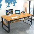 Computer Table Modern Wood Desk Home Office Study Workstation Writing Furniture