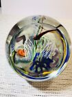 Signed Abstract Contemporary Oceanic Studio Art Glass Paperweight