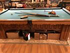 9 Foot Custom Oak Slate Pool Table