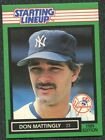 Yankee Don Mattingly 1989 Starting Lineup Cards