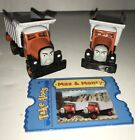 Diecast Max and Monty Dump Trucks Thomas and Friends Take Along Train W/ Card