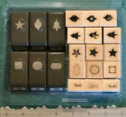HTF STAMPIN UP ORNAMENT TREE STAR LABEL MERRY MINIS CRAFT PAPER PUNCH STAMPS LOT
