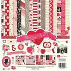 Valentines Day Love Kisses Candy Flowers Echo Park Scrapbook Page Kit 12 x 12