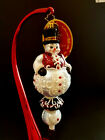 ☃NWT 2018 CHRISTOPHER RADKO TOP OF HIS GAME SNOWMAN SPINNER FINIAL ORNAMENT