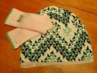 ODD MOLLY Anthropologie cotton/cashmere knit hat and gloves set/2 NWOT