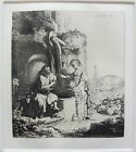 REMBRANDT CHRIST AND THE WOMAN OF SAMARIA Plate Signed Etching by Amand Durand