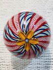 Peter McDougall Amber Floral Crown Paperweight
