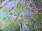 VINTAGE FASHION MANOR PENN PREST PERCALE FLAT FITTED FULL SHEETS FLOWER POWER
