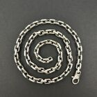 Heavy 925 Sterling Silver Linked Rectangle Chain Mens 22 24 Necklace Classic