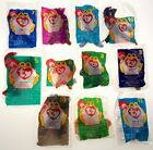 McDonalds Toys Lot of 11 TY Beanie Baby Peanut Doby Pinchers Mel Bones Waddle