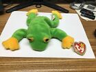 ty beanie baby smoochy frog With PE Pellets