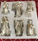 LENOX HOLIDAY MINIATURE NATIVITY SET of 7 FIGURES HOLY FAMILY 3 KINGS ANGEL BNIB