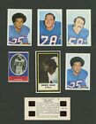 Buffalo Bills Lot of Oddball Early 1970's cards 1971 Dell, NFLPA, Sunoco Stamp