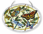 Butterflies Dragonfly Sun Catcher AMIA Beveled Hand Painted Glass 65x9 New