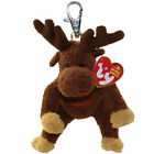 TY Beanie Baby - VILLAGER the Moose ( Metal Key Clip - Canada Exclusive ) (5 in)