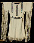 ESTATE FIND VTG NATIVE AMERICAN BUCKSKIN FRINGED DRESS POW WOW REGALIA WEDDING