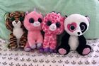 "LOT OF 4 Beanie Boos 9"" Plush Magic Mandy Twigs Tiger"