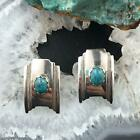 Native American Sterling Silver Turquoise Stud Earrings For Women