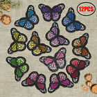 12PCS Monarch Butterfly DIY Patch Iron On Sew On Embroidered Applique 1812